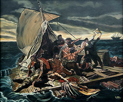 Oil Painting On Canvas (Raft Of Medusa) Reproduction Of Theodore Gericault 20X24