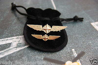 Pilot Anstecknadel Wings Gold/silver 35/50Mm + Ppl (Private Pilot Licence) Wings