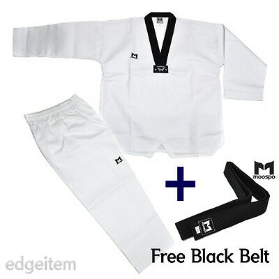 Moospo Taekwondo Dan Dobok (Uniform) + Free Black Belt