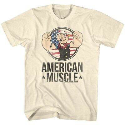 7c40e65ef4 Popeye The Sailor Man 1960's Cartoon Vintage Style American Muscle Adult T- Shirt