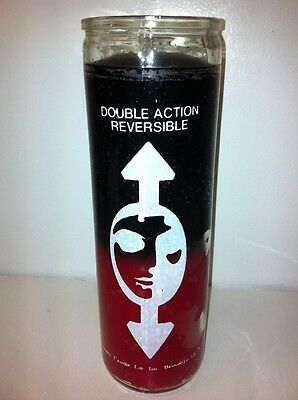 Reversible 7 Day 2 Color (Black & Red) Unscented Candle In Glass