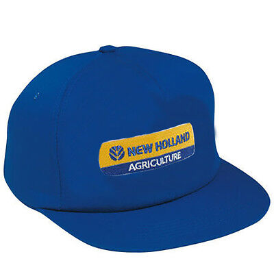 NEW HOLLAND *BLUE* Trademark Logo TRADTIONAL Flatbill Twill CAP HAT *BRAND NEW*