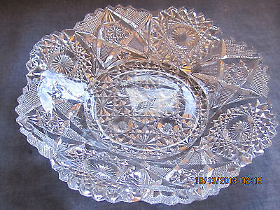 """Westmoreland """"Deep Cut"""" Pressed Glass Plate - Scalloped Edge with Sawtooth Rim"""