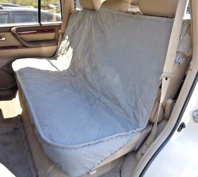 Luxury Dog Cat Pet Car Back Seat Back Bench Cover Quilted Padded Washable Grey