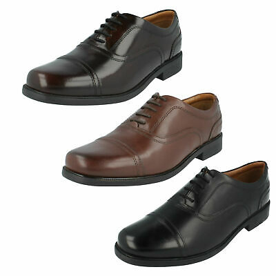 5ae7824ba776 Mens Clarks Leather Toe Cap Wide Fitting Office Lace Up Shoes Size Beeston  Cap