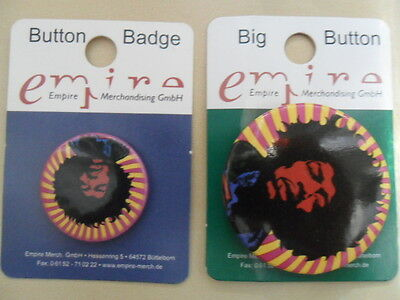 Jimi Hendrix/2 Badges Anstecker 25mm & 35mm/Button