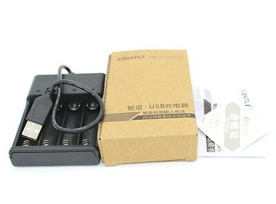 4 slots USB battery charger for KENTLI 1.5v AA lithium rechargeable battery
