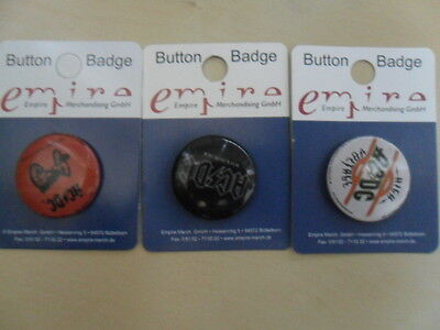 AC/DC/3 Badges Anstecker Pin neu 2,5 cm/Button