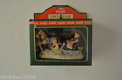 Coca Cola Town Square Collection Sleigh Ride 1994 Christmas Decoration