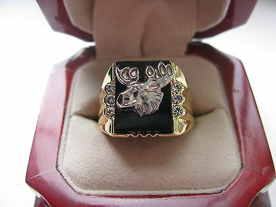 """NEW! Mens Heavy """"Loyal Order Of Moose"""" Club CREST Ring"""