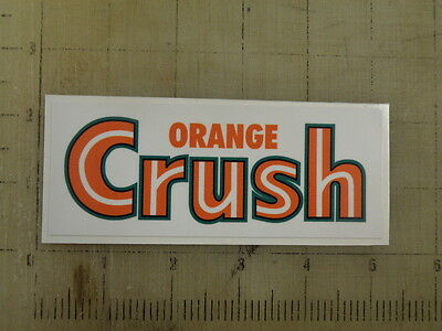"Vintage Orange Crush sticker decal 5""x2"""