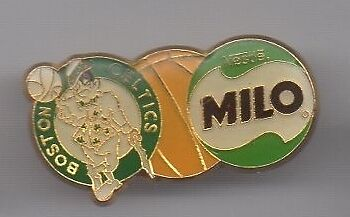 Pin's basket ball / équipe boston celtics - Milo de Nestlé