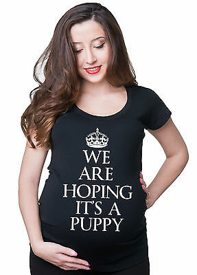 Baby Announcement T-shirt We Are Hoping It's A Puppy Funny Pregnancy Tee Shirt