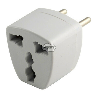 Universal AU US UK to EU Euro Plug Power Travel Charger Adapter Converter Socket