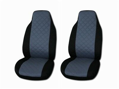 New Front Seat Covers for Audi A2 , A3 , A4 , A6 , 80 , 90 GREY AND BLACK