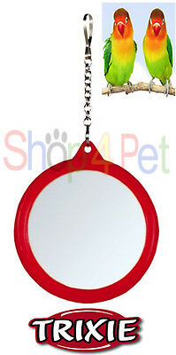 TRIXIE HANGING MIRROR VARIOUS COLOURS Suit BUDGIE, CANARY or SMALL BIRDS,