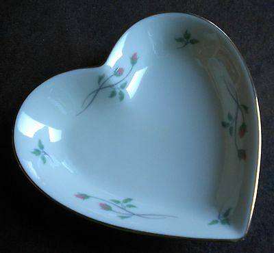 Lenox Porcelain Trinket Plate Bowl Heart Shaped Rose Manor (made in USA)