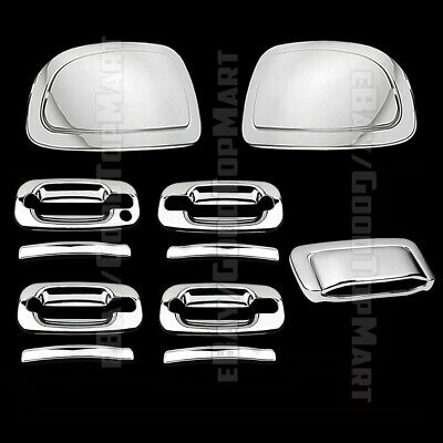 For 98-06 Chevy S10 Blazer 2Drs Handle W//o Psgkh+Tailgate Abs Chrome Covers