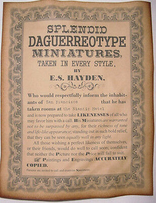 Daguerreotype Miniatures Ad Poster, old west, western, wanted