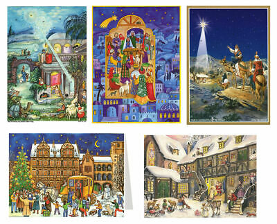 Advent Calendar Cards with envelope - traditional german design 210 x 148 mm