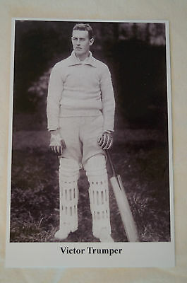 Cricket Collectable Postcard - Sporting Greats - Victor Trumper - Australia.