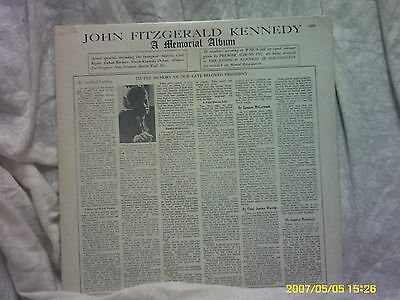 JOHN FITZGERALD KENNEDY A MEMORIAL ALBUM   A PRODUCT OF PREMIER ALBUMS, NY