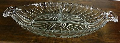 Vintage Fostoria 3 part Divided Relish Dish