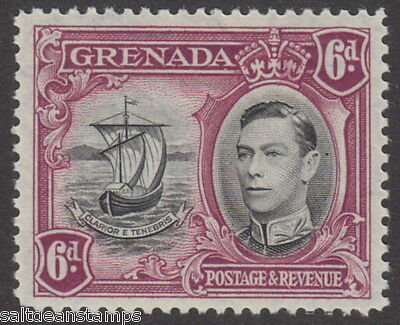 GRENADA - 1938 6d. Black and Purple Perf. 12½ MM / MH