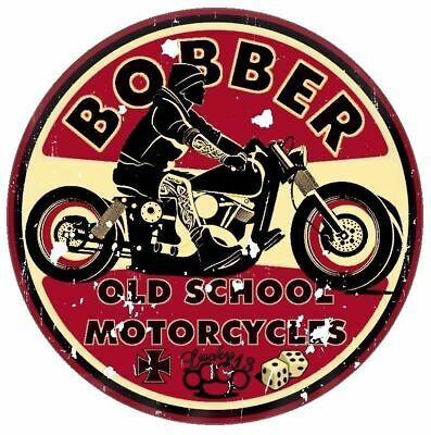 Bobber Old School Motorcycles Aufkleber Sticker Cafe Racer Retro Vintage #1