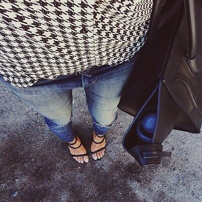 NWT ZARA LEATHER WEDGE STRAPPY SANDAL - US 8/EURO 39 - BLOGGER SINCERELY JULES