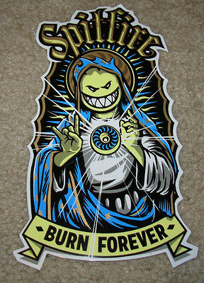 "SPITFIRE Virgin Mary Skate Sticker 6.5 X 4"" skateboards helmet decal"