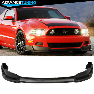 For 13-14 Ford Mustang Front Bumper Lip Unpainted Black Poly-Urethane