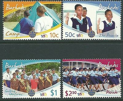 Barbados 2010 - 100th Anniversary of Girl Guides Sports - Sc 1166/9 MNH