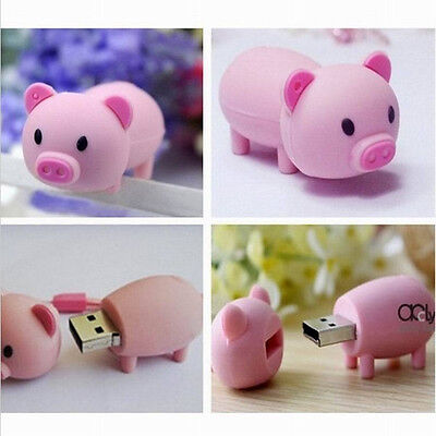 New Lovely Pink Pig Model 8GB USB 2.0 Enough Memory Stick Pen Drive M08