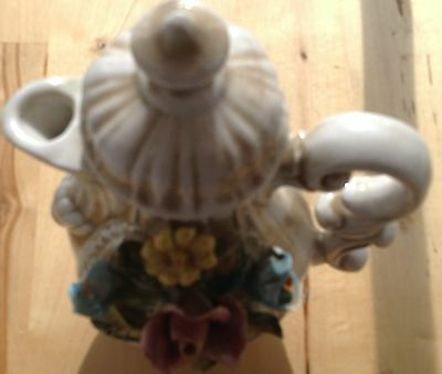 LOVELY CAPODIMONTE Coffee Pot with Intricate flower design