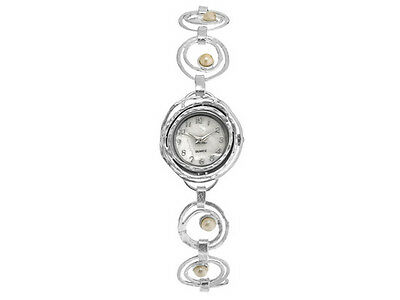 Artisan Collection Ladies Sterling Silver Cultured Freshwater Pearl Quartz Watch