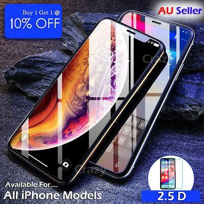 Tempered Glass Film Screen Protector For Apple iPhone X XS XR SE 5S 6S 7 8 Plus