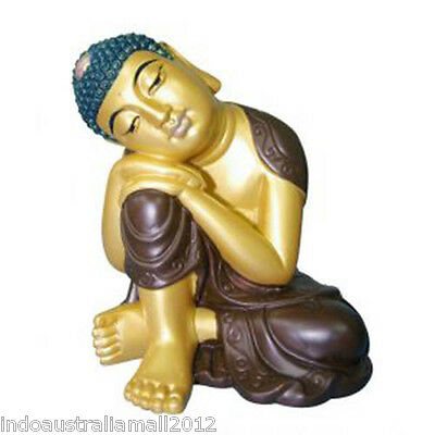 High Quality Colorful Resting Buddha Statue 110mm High(ST119GB)