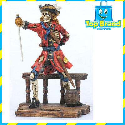 Calico Jack Pirate Statue/Figurine Poly Resin 7.5 inches Tall CAPTAIN MAN CAVE