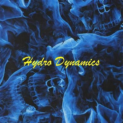 Hydrographics Film Blue Large Skulls Flames Flaming Transfer- Hydro Dynamics
