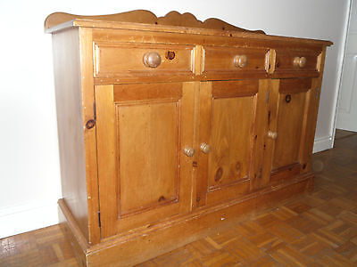 Antique solid pine sideboard