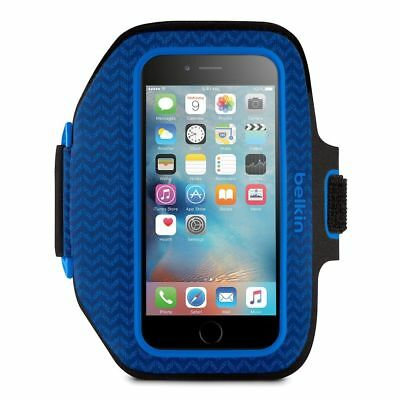 Belkin Slim-Fit Plus Armband iPhone 6 7 S Sports Gym Jogging Running Case Blue