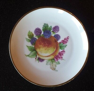 Imperial Germany Porcelain Plate Peach & Berries