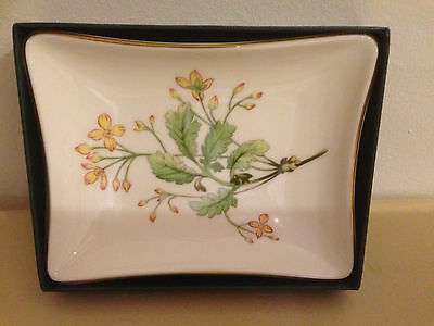 Limoges Decorative Porcelain Pin Tray in Original Box