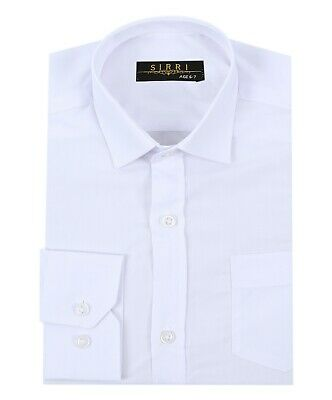 PAGE BOYS WHITE CLASSIC COLLAR FORMAL SHIRT WEDDING PROM AGE 1YRS to 16 YRS