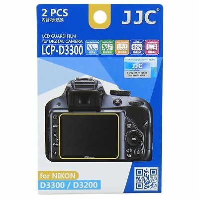 JJC LCP-D3300 LCD Screen Protector Guard Film Cover for Nikon D3200/D3300/D3400