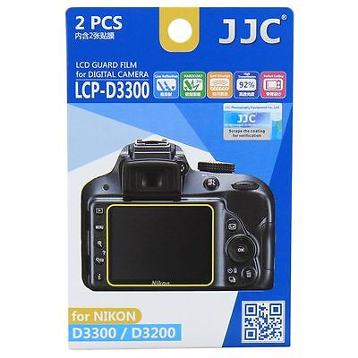 JJC LCP-D3300 LCD Screen Protector Guard Film Cover for Nikon D3200, D3300