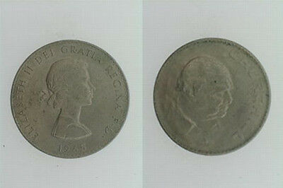 England Elizabeth II Churchill Crown 1965