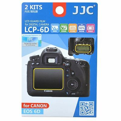 JJC LCP-6D LCD Screen Protector Guard Film Cover for Canon EOS 6D Camera