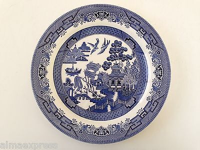 """Churchill - Blue Willow - 10-1/4"""" DINNER PLATE - Stamped Mark - Made in England"""